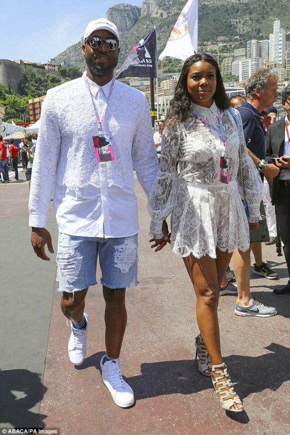 Wade's Wife Brings Out the See Thru Look at Grand Prix