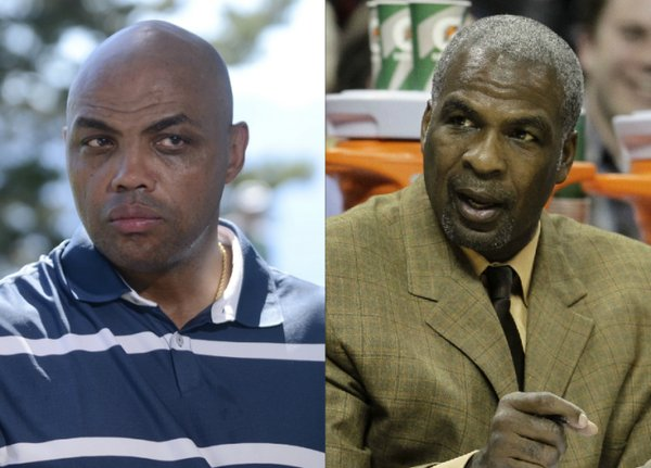 Charles Barkley and Charles Oakley Beef it Up