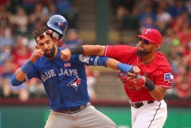 Rangers and Blue Jays Throw Down