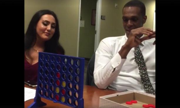 Rajon Rondo Crushes Isiah Thomas in Connect Four