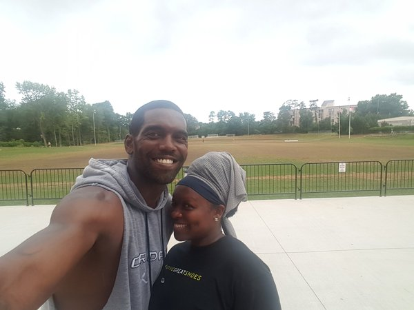 Lady Smitten After Workout with Randy Moss