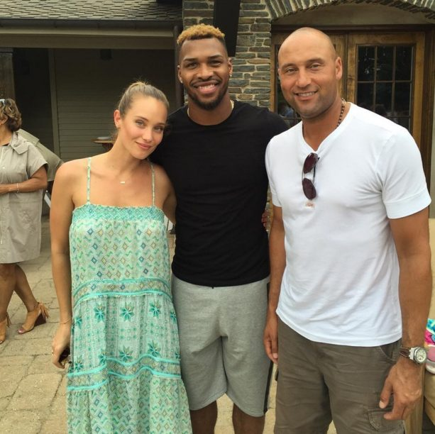 Derek Jeter And Hannah Davis Picnic At The Lake House Terez Owens