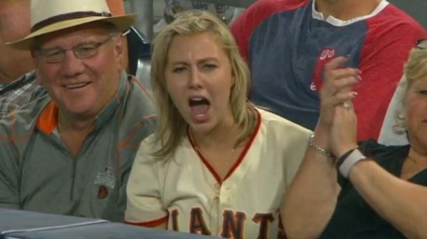San Francisco Giants Fan Shows her Passion
