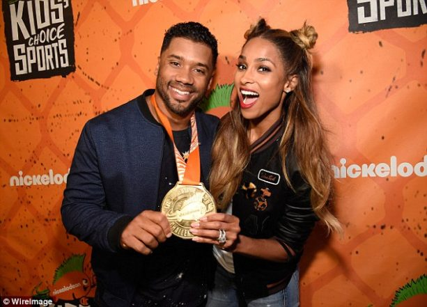 Russell and Ciara Wilson Cheese up the Nick Awards