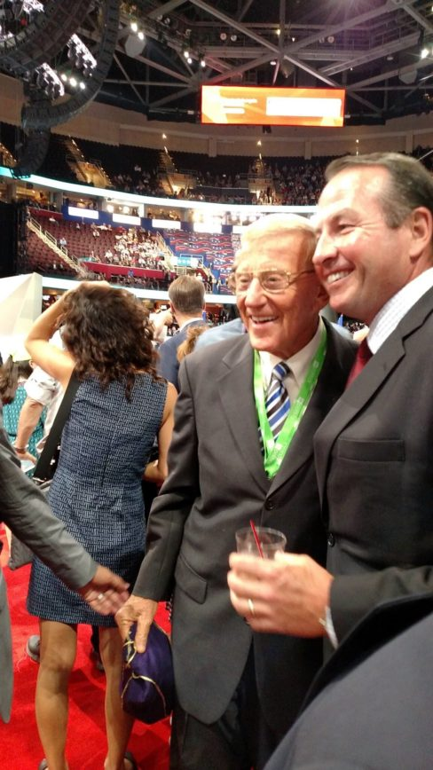 Lou Holtz Carrying Around A Bottle Of Booze At RNC
