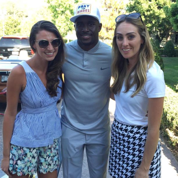 Reggie Bush Sandwich At His Charity Golf Tournament
