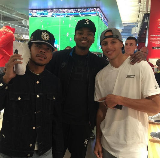 77aabe9437b5 Steph Curry Hangs with Chance the Rapper ⋆ Terez Owens    1 Sports ...
