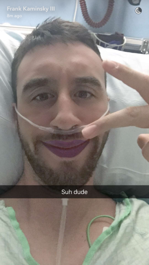 Frank Kaminsky Snapchatting His Way Thru Recovery