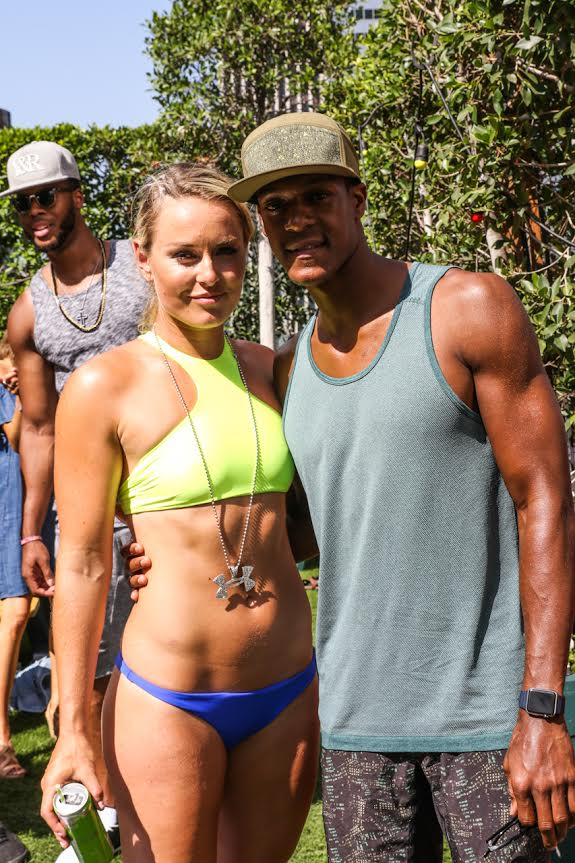 Lindsey Vonn Hosts NBA Player Pool Party