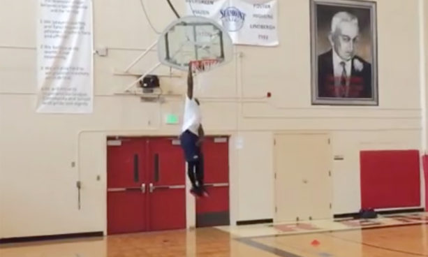 Nate Robinson Throwing Down on a 12 Foot Hoop