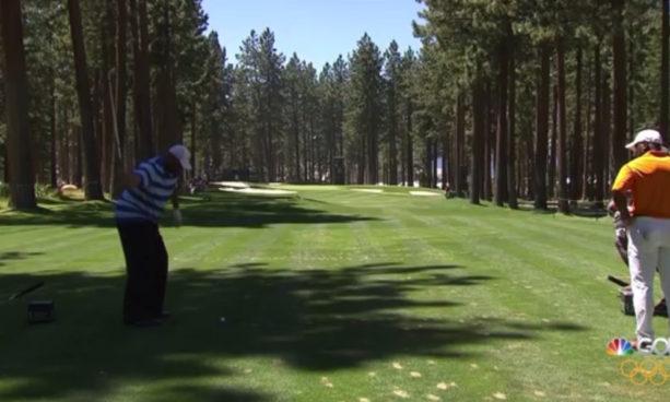 Charles Barkley Hits Amazing One Handed Shot