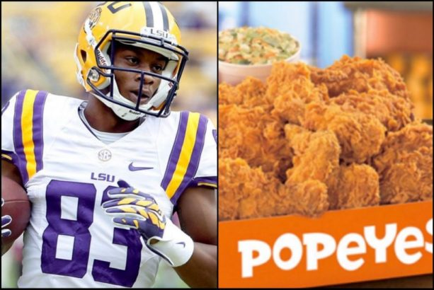LSU Wide Receiver Gained 30LBS Off Popeyes Chicken