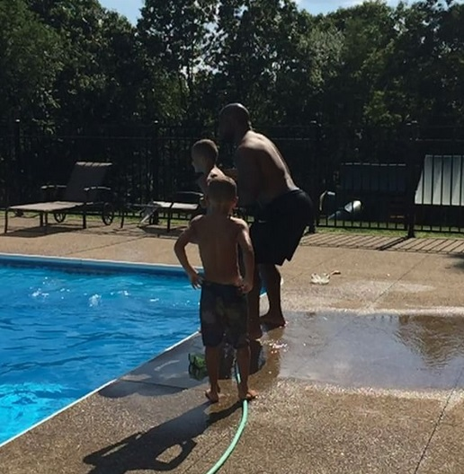 Watch How High James Harrison Can Chuck His Kid