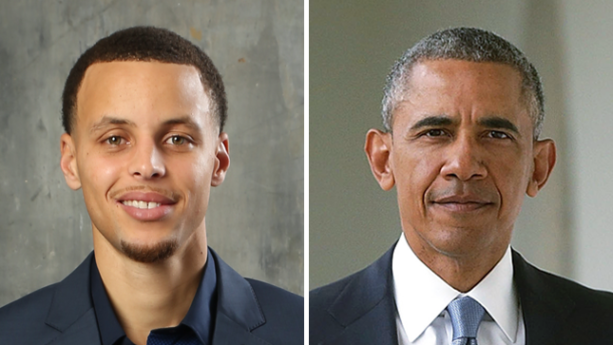 Check out Steph Curry and Obama on a Golf Cart