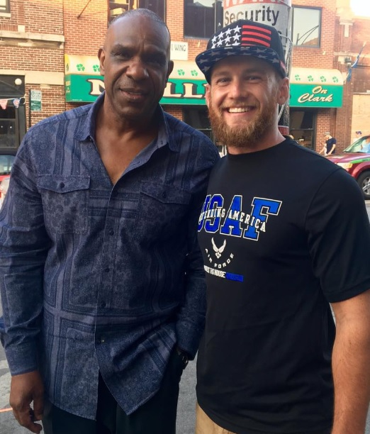 Andre Dawson Hanging in Wrigleyville