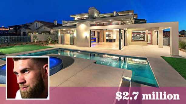 Check out Bryce Harper's New Las Vegas Pad